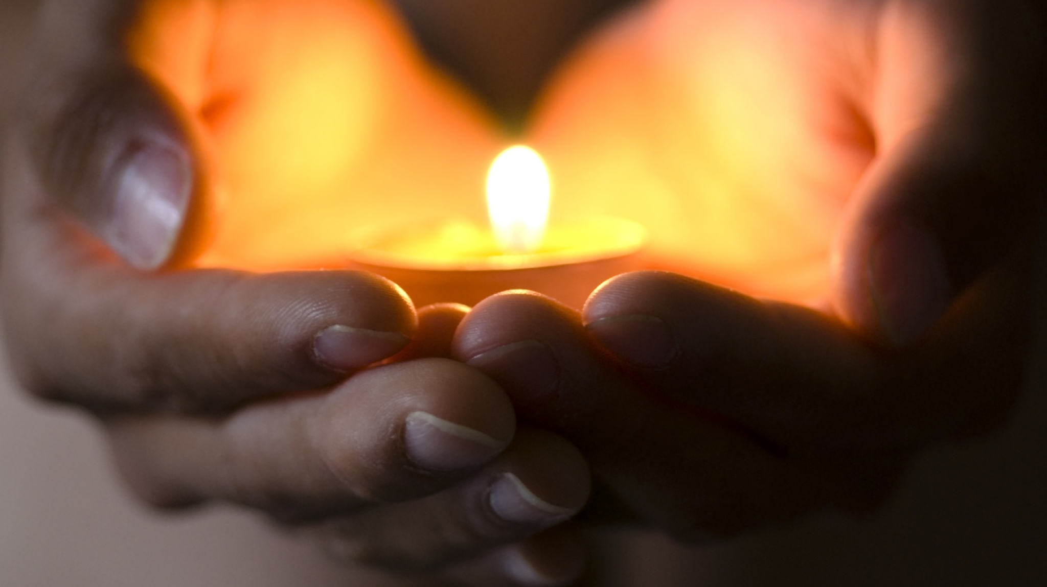 Candle in hand yoga nidra
